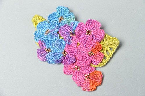 Crochet Flower Brooch - 6