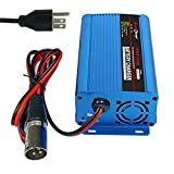 24V 5A Battery Charger with XLR Connector for Wheelchair Car Motorcycle eBike Electric Tools Emergency Light Portable Electronics Devices
