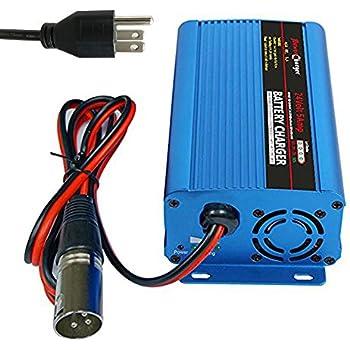 Amazon.com: SCHAUER jac0524 Cargador: 24 voltios, 5 Amp con ...