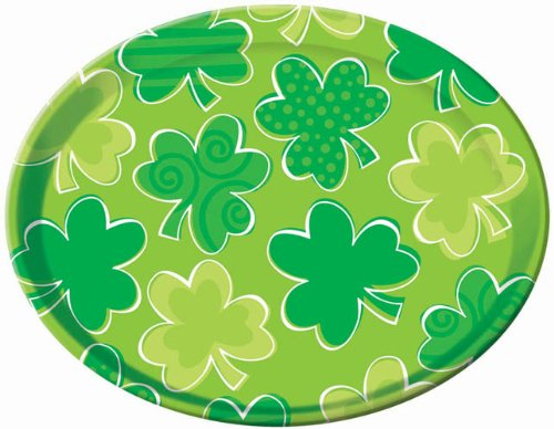 St. Patrick's Day Plastic 13 1/2in Round Platter