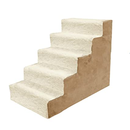 Dog Stairs Cat Steps 5 Step Dog Stairs Large Cat Steps Pet Ladder For High  Beds