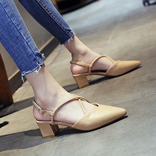 Señoras de Parte Moda Sandalias Verano de Boda Baile YMFIE Vendaje de b Cruzado wASOdOqt