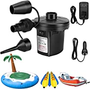 Electric Air Pump Portable Quick Fill Air Pump for Inflatable Couch, Air Mattress Bed,Swimming Ring, Electric