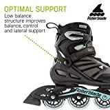 Rollerblade Zetrablade Women's Adult Fitness Inline Skate, Black/Light Blue, US Women's 7