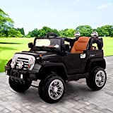 JAXPETY 12V Jeep style Kids Ride on Truck Battery Powered Electric Car W/Remote Control