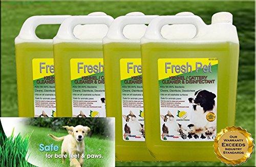 4x 5L Fresh Pet kennel/katzenzucht Desinfektionsmittel, Reiniger, Geruchsentferner-Lemon Fresh