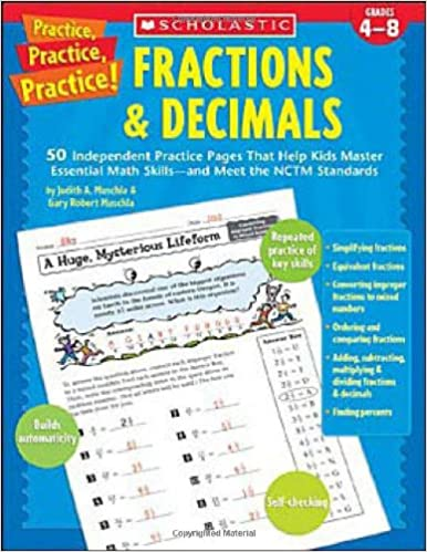 Amazon.com: Fractions & Decimals: 50 Independent Practice Pages ...