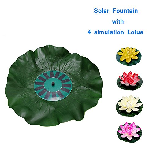 Dugoo Solar Water Pump Power Fountain Garden Sprinklers Floating Panel Automatical For Fountains Waterfalls With 4 Flower Simulation Lotus - Frog Solar Water Fountain