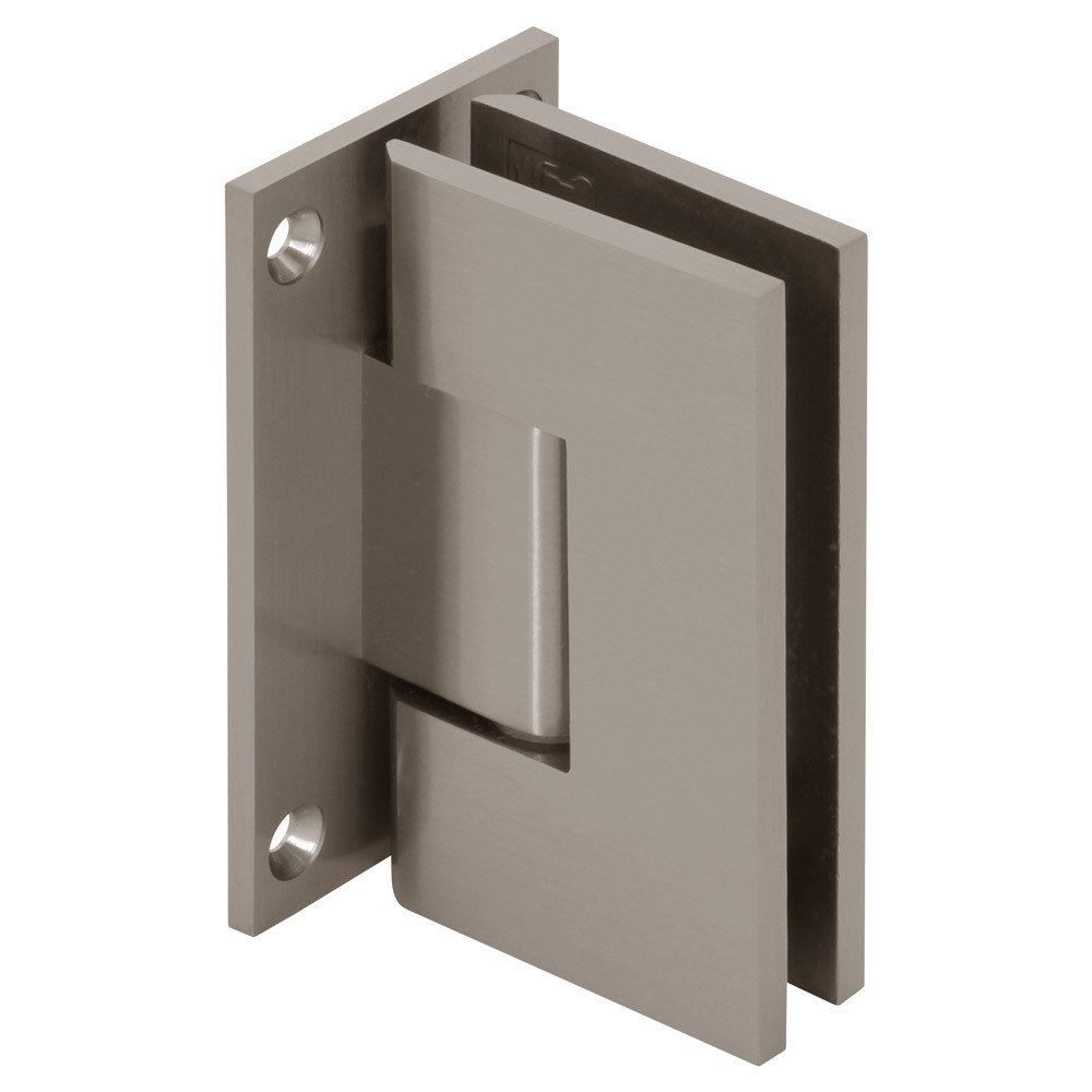 MODEXO H1VEN 3101BSN Venus Senior Wall Mount Square Heavy Duty Full Back Shower Hinge Brushed Nickel