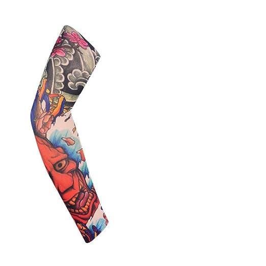 ZXTWS.Ltd 4pcs Mangas de Tatuajes Falsos Estiramiento elástico de ...