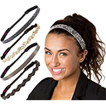 Hipsy Women's Adjustable Cute Fashion Headbands Hairband Gift Pack