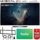 LG OLED55B7A B7A Series 55 OLED 4K HDR Smart TV (2017 Model) + Deco Mount Flat Wall Mount Kit Ultimate Bundle for 45-90 inch TVs + Hulu $25 Gift Card + 1 Year Extended Warranty