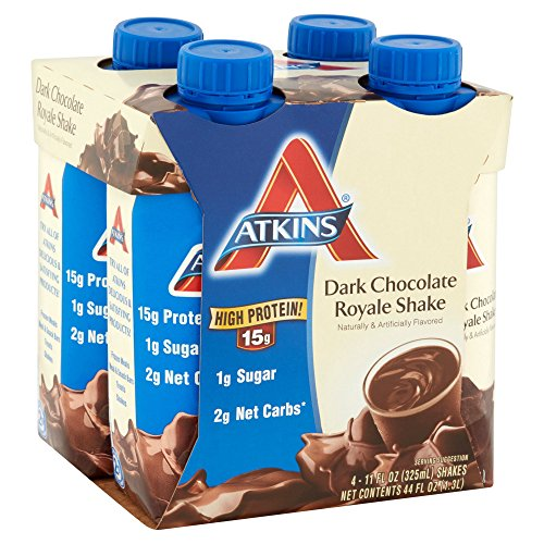 Atkins Ready To Drink Shake, Dark Chocolate Royale, 11 Ounce, 4 Count