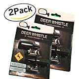 WILDLIFE WARNING DEER WHISTLE FOR CARS SUV TRUCK MOTORCYCLE | BONUS 2 PACKAGE SETS | QTY 4