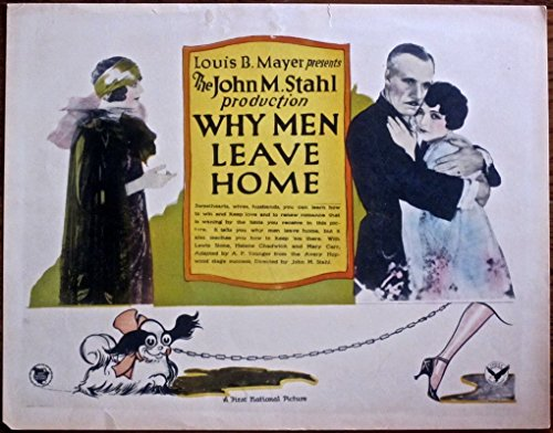- WHY MEN LEAVE HOME '27 TC ~ SUPER FUN ANIMATED DOG SEXY ANKLE BORDER ARTWORK