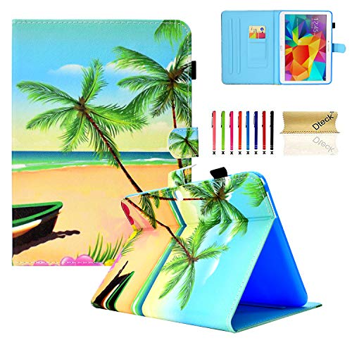 Galaxy Tab 4 10.1 Case,T530 Case,Dteck Auto Sleep Wake Smart Case Corner Protection Multi-Angle Viewing Folio Stand Cover Samsung Galaxy Tab 4 10.1 SM-T530NU T531 T535 Tablet,Beach (Samsung Galaxy Tab E 9-6 Inch Case)