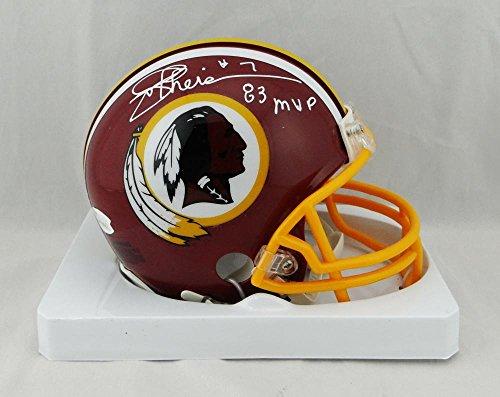 Joe Theismann Signed Redskins TB 82 Mini Helmet W/ 83 MVP- JSA W Auth (Joe Theismann Football)