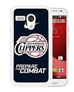 Los Angles clippers White Hard Plastic Motorola Moto G Phone Cover Case