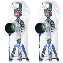 Neewer 4 Pieces Camera Rain Cover Protector for Canon Nikon Sony Pentax and other DSLR Cameras, Speedlite Flash, Tripods and Lens whithin 14 inches Length and 6.5 inches Diameter