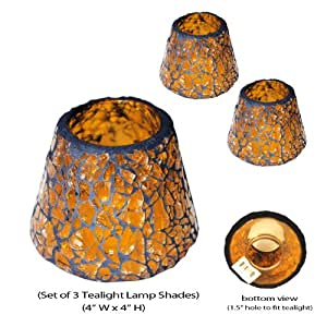 Amazon tea light lamp shade mosaic set of 3 candle we dont know when or if this item will be back in stock aloadofball Gallery