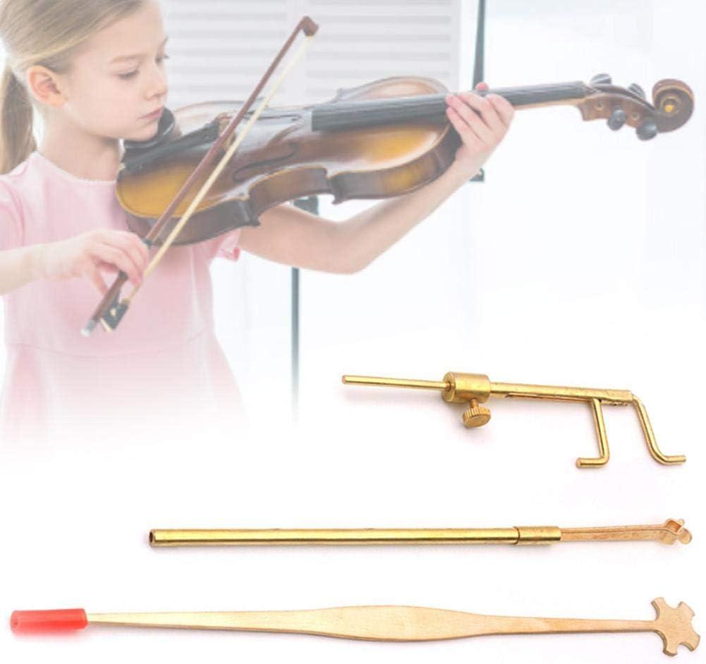 Gold//Brass anne210 Violin Luthier Tools Kit Set Sound Post Gauge Measurer /& Retriever Clip /& Setter,Violin//Viola Sound Post Gauge Measurer Setter Retriever Clamp Luthier Tools Kit