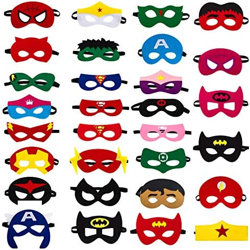 Superhero Cosplay Elastic Birthday Multicolor product image