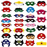 30pcs-Superhero-Felt-Masks-for-Kids-Party-Cosplay-Superhero-Masks-with-Elastic-Rope-Party-Favors-Mask-for-Birt