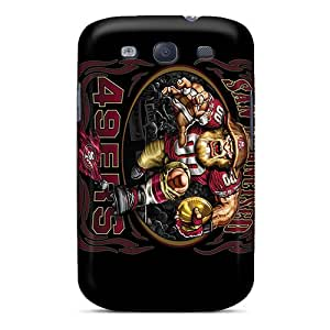 Shockproof Hard Phone Cases For Galaxy S3 With Unique Design Lifelike San Francisco 49ers Image ZachDiebel
