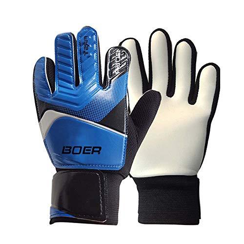 Blue #6 Children Kids Youth Football Soccer Goalkeeper Goalie Training Gloves Gear