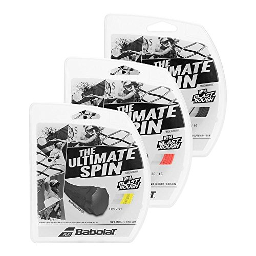 Babolat RPM Blast Rough Tennis String (Fluorescent Red, - Tennis Strings