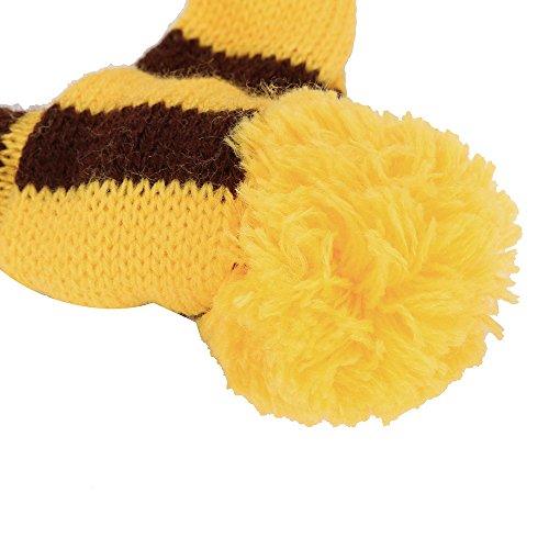 1 Set Pets Pet Dog Puppy Pet Accessories Cats Hats Scarf Socks Warm Comfortable Breathable Christmas Gift Dog Scarf Dog Neckerchief Saliva Towe Dog Bibs Dog Bandana Scarf (Yellow, XXS) by succeedtop (Image #3)