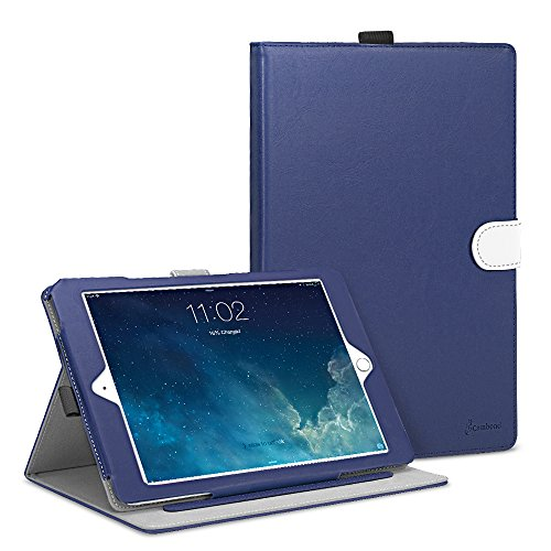 iPad Air 2 Case, Cambond Ultra Slim Light Weight Sleep Awake Smart Stand Case Cover with Card Slots and Stylus Holder, Protective Premium PU Leather Cover Case for Apple iPad Air 2 (iPad 6), Blue (Ipad Air Cover Case compare prices)