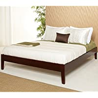Metro Shop Tapered-Leg Full-Size Mahogany Platform Bed
