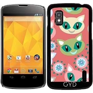 Funda para Google Nexus 4 - Patrón De Los Gatos by Luizavictorya72