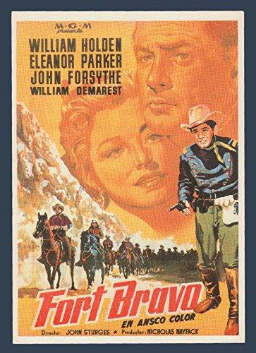 Fort Bravo with William Holden, Eleanor Parker & John Forsythe - Classic Cinema Vintage Original Postcard #0972 - 1980's