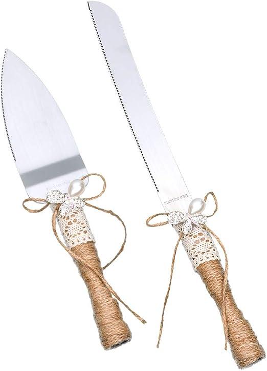 Amazon Com Rustic Wedding Cake Knife And Server Set Wedding