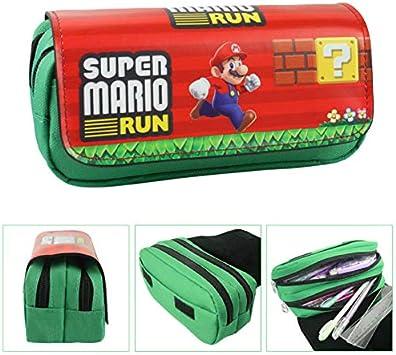 FENGHU Super Mario Mochila Classic Game Super Mario Walltets Estuche para mujer, neceser de maquillaje organizador para niños, bolsas de dibujos animados: Amazon.es: Deportes y aire libre