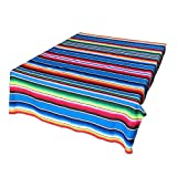 TRLYC 57''x72'' Mexican Blanket - Rainbow Wall Tapestry Wedding Party Gift Bedspread Beach Towel Yoga Picnic Mat
