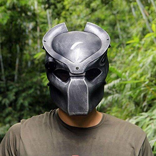 Casco táctico para airsoft y paintball de WorldShopping4U, con malla metálica y máscara de depredador con luz infrarroja: Amazon.es: Deportes y aire libre