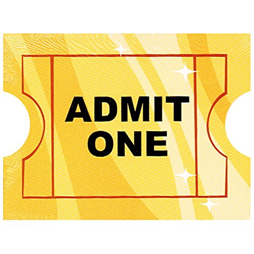 Hollywood Movie Night 'Admit One' Invitations w/ Envelopes (Hollywood Party Invitations)