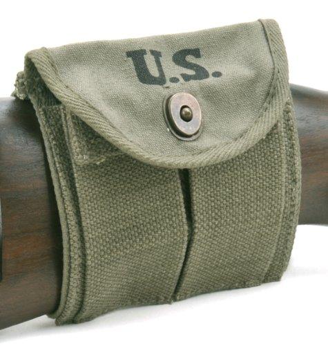 (World War Supply U.S. WW2 M1 Carbine Buttstock Type Pouch OD Green Marked JT&L 1944)
