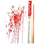 Bloody Shower Curtain - Unique Shower Curtains that Change Color When Wet, Blood Stained Shower Curtain, Psycho Halloween Party Accessories, Bloody Hands Scary Bathroom Decor, Awesome Shower Curtains