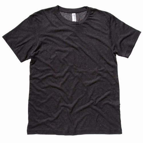 Bella Leinwand Triblend Crew Neck T-Shirt Charcoal Triblend M