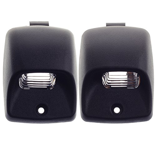 - HERCOO License Plate Lights Lamp Lens Left Right Hand Black Housing Compatible with 2002-2013 Toyota Tundra 2005-2015 Tacoma Pickup Truck Rear Step Bumper Aftermarket Replacement, Pack of 2