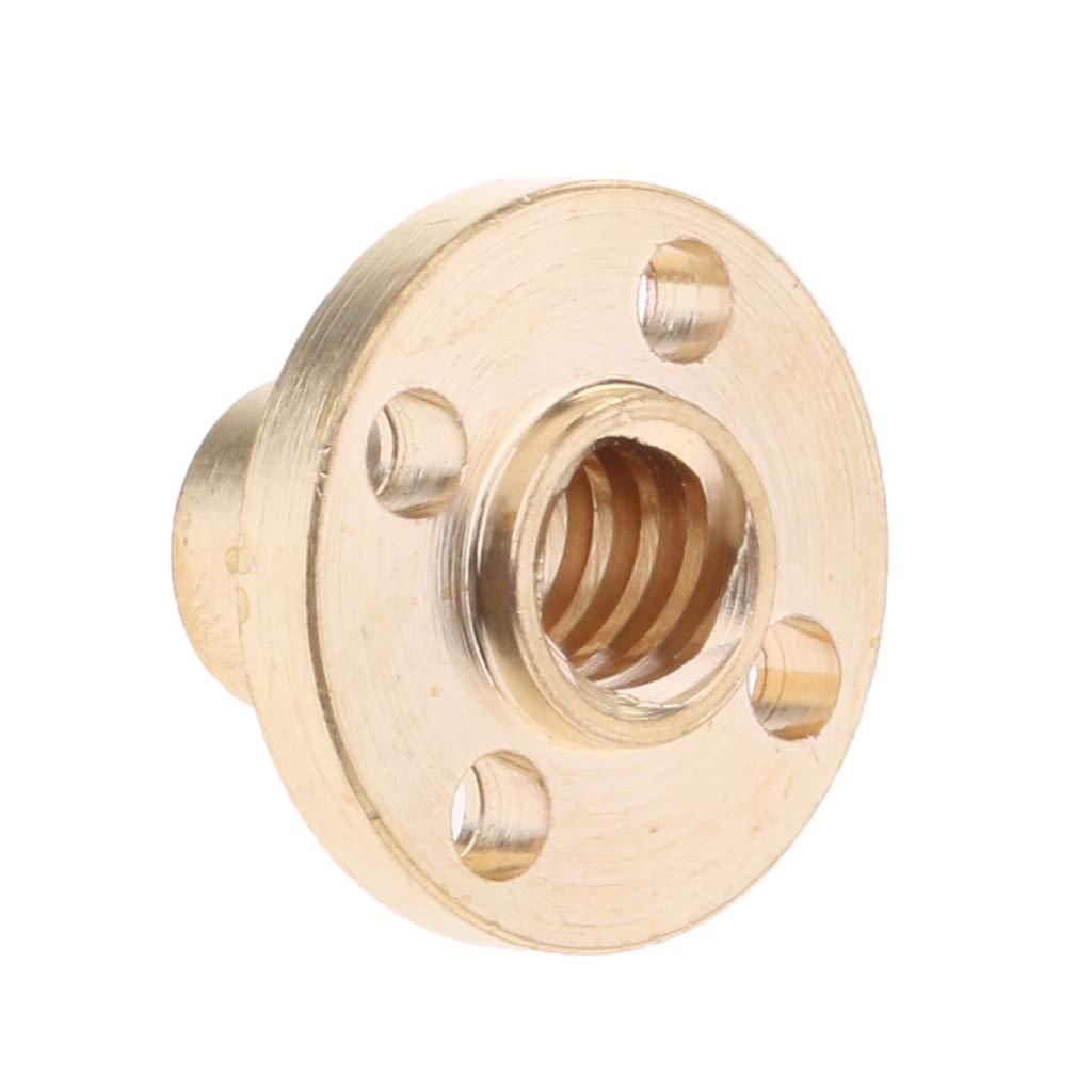 Homyl 4 Piezas T8 Tuerca de Lat/ón de 2 mm de Paso para Impresora 3D Varilla Roscada de 8 mm