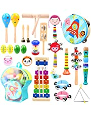 Ohuhu Musical Instruments Toys, 27Pcs Kids Musical Instruments, Toddler Music Toys, Rhythm Percussion Set for Child, Xylophone - Promotes Early Development - Backpack Included
