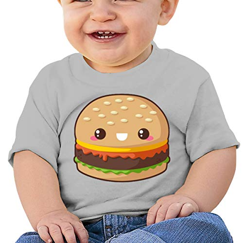Frank Ken Hamburger Baby Cotton Comfortable T-Shirt Gray 6M