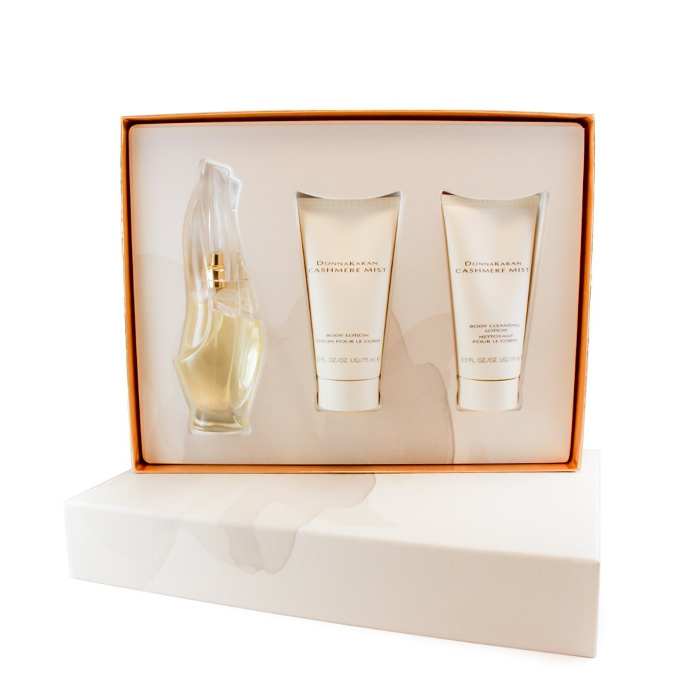 Donna Karan Cashmere mist 3 pc. gift set ( eau de parfum spray 1.7 oz + body lotion 2.5 oz + body cleansing lotion 2.5 oz ) for women by donna karan , 1.7 fluid_ounces