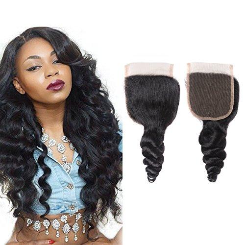 Msjoli 100% Unprocessed Brazilian Virgin Hair Loose Wave Human Hair 3 Bundles Grade 7A Human Hair Extension Natural Black Color