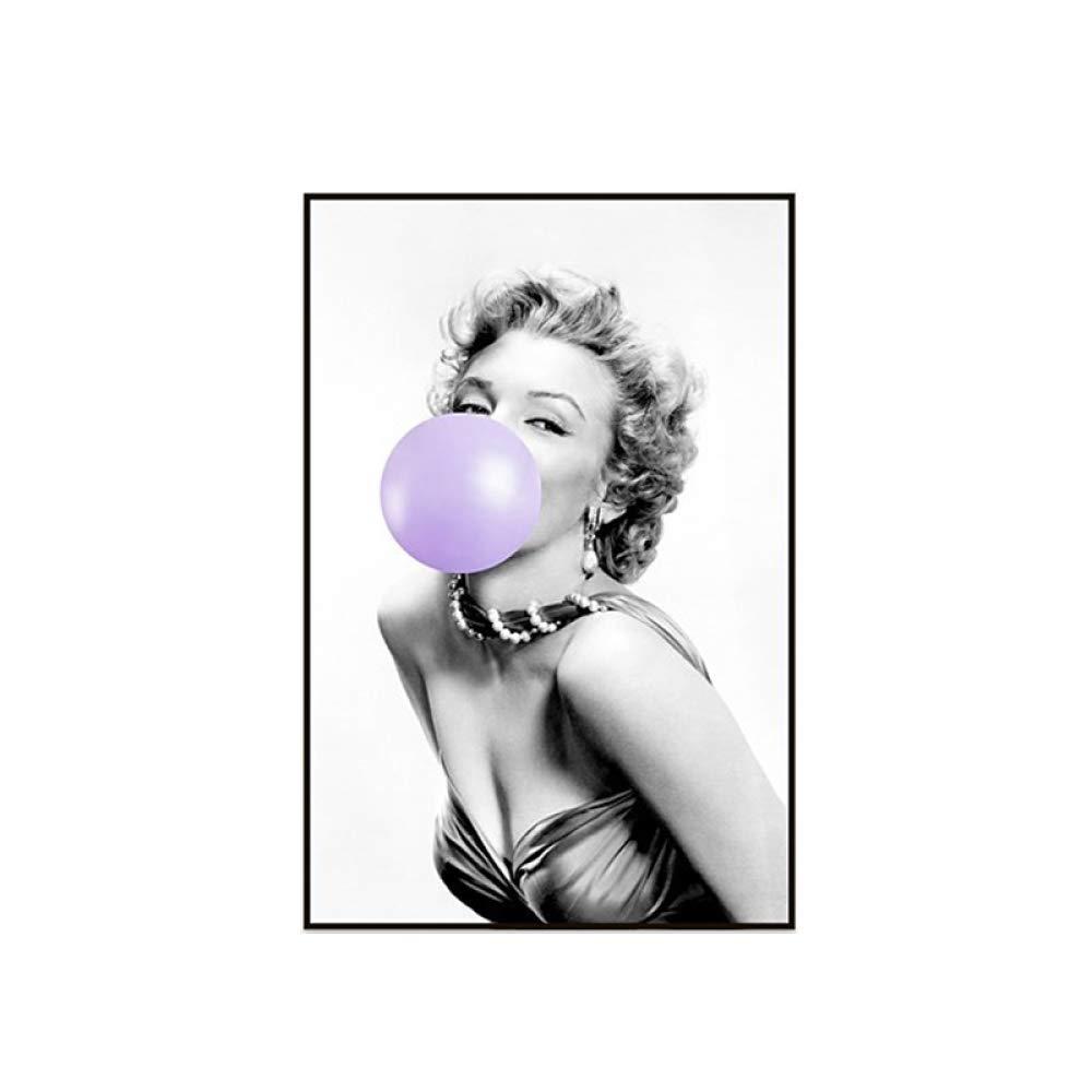 zxddzl Blowing Bubble Creative Canvas Poster Print Gift Art Imagen ...